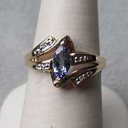 Gorgeous 14k Gold and Tanzanite / Diamond Ring