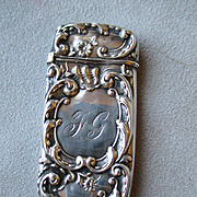 Wonderful Whiting & Davis Sterling Silver Match Safe