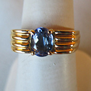14k Gold and Tanzanite Ring