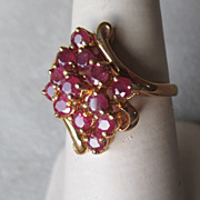 10k Gold and Pink Sapphire Ring