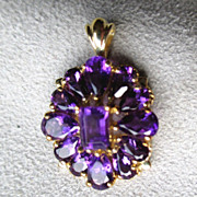 10k Gold and Amethyst Pendant
