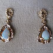 14k Gold and Opal Earrings