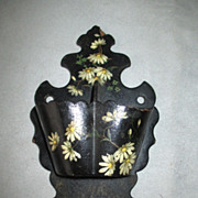 Victorian Papier Mache Wall Mounted Match Safe