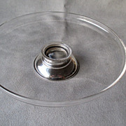 Frank M Whiting Sterling and Glass Small Cake Stand