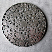 Webster Sterling Overlay Trivet