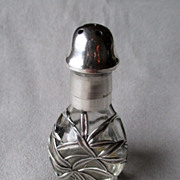 Wonderful Silver Overlay Shaker with Bamboo Design