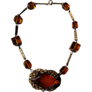 "Great Edwardian ""Citrine"" Necklace"
