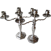 "Matched Pair ""Lutz & Weiss"" 800 Silver Candelabra"