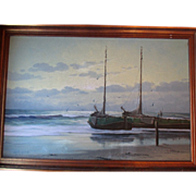 Original Dutch Oil Seascape Painting - H.J. Wijngaard
