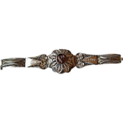 1944 Silver Filigree Bracelet from Iran