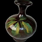 Beatuiful Weller Louwelsa Vase with Leaf Pattern