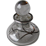 Beautiful Silver Deposit Perfume Bottle