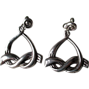 Taxco Sterling Silver Bow Earrings - Ballesteros