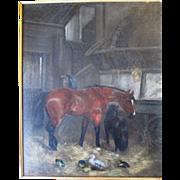 """Original """"John Frederick Herring (1815-1907)"""" Oil Painting"""