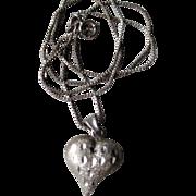 10k White Gold Heart Pendant