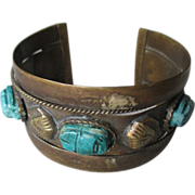 Middle East Scarab Cuff Bracelet