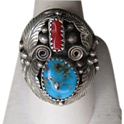 Gorgeous Sterling Silver and Turquoise Ring