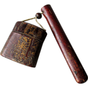 19th Century Japanese Cherry Bark Kiseruzutsu Pipe Case and Inro