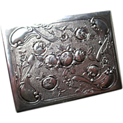 STunning 800 Silver German Repousse Cigarette Case