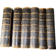 Six Volume Set of Waverley Novels - 1851 with Leather Spines