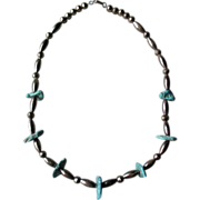 Fabulous Silver Bead and Turquoise Necklace