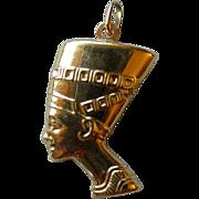 18k Gold Egyptian Head Pendant / Charm