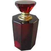 Beautiful Faceted Glass Perfume Bottle
