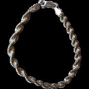 Fabulous Sterling Silver Twist Style Bracelet