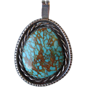 Gorgeous Sterling Silver and Turquoise Pendant