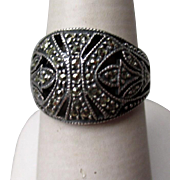 Beautiful Sterling Silver and Marcasite Ring