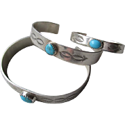Matched Set Three Generation Sterling Turquiose Bracelets