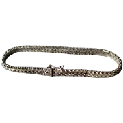 Great Mexican Sterling Silver Fancy Link Bracelet
