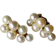 Gorgeous Pair 14k Gold and Pearl Earrings