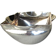 Gorgeous 800 Silver Hand Hammered Bowl