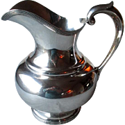 Heavy Sterling Silver Water Pitcher by F. W. Drosten