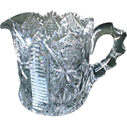 Gorgeous Signed Hawkes Crystal Pitcher - American Brilliant Period