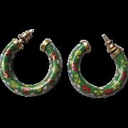Fabulous Vintage Cloisonne Earrings