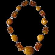 Fabulous Chunk Style Amber Necklace