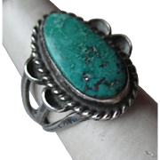 Fabulous Silver and Turquoise Ring