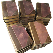 1808 - 25 Volume - The British Theatre - with 3/4 Calf Leather Bindings