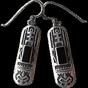 Great Vintage Native American Sterling Silver Earrings