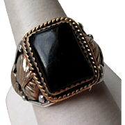 Fabulous Men's Sterling Silver and Black Onyx Ring