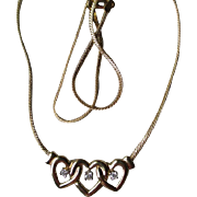 Gorgeous 14k Gold and Diamond Heart Necklace