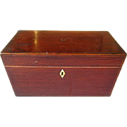 18th Century English Mahogany Tea Caddy