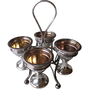 Great Vintage Silver Plate Egg Cup Holder