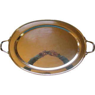 Gorgeous Large Sterling Silver Serving Tray