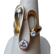 Gorgeous 14k Gold and 0.5ct Diamond Modernist Ring