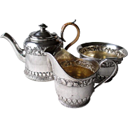 Gorgeous Gorham Sea Shell Theme Sterling Silver3 Piece Tea Set