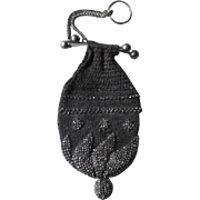 Fabulous Edwardian Crochet Purse for Perfume  Bottle