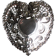 Beautiful Gorham Sterling Silver Heart Dish